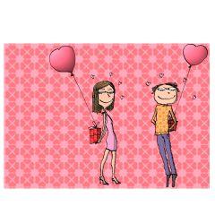 Personalisierbare Grußkarte IN LOVE