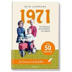 Geschenkbuch 1971 - DEIN JAHRANG - zum 50. Geburtstag