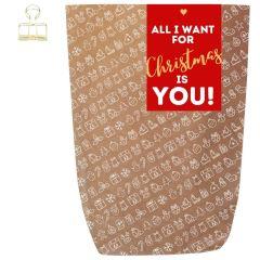 Geschenktüte X-MAS ICON ALL I WANT FOR CHRISTMAS - zum Befüllen