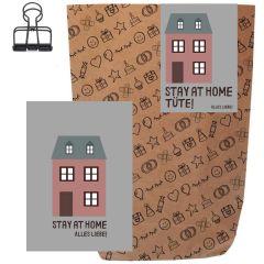 Geschenktüte + Grußkarte STAY AT HOME! ALLES LIEBE!