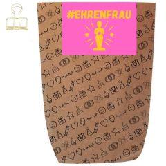 Geschenktüte #EHRENFRAU - zum Befüllen