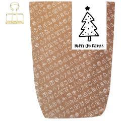 Geschenktüte X-MAS ICON - HAPPY CHRISTMAS BAUM - zum Befüllen