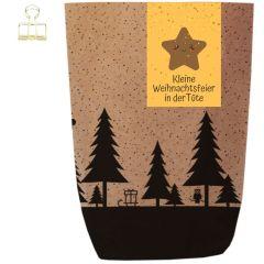 Geschenktüte X-MAS WALD - WEIHNACHTSFEIER IN DER TÜTE - zum Befüllen