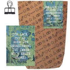Geschenktüte + Grußkarte DER LACK IST AB! - zum Befüllen