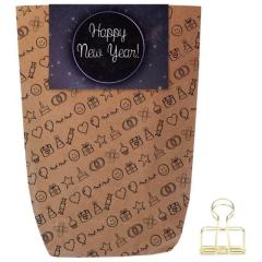 Geschenktüte HAPPY NEW YEAR  WELTALL - zum Befüllen