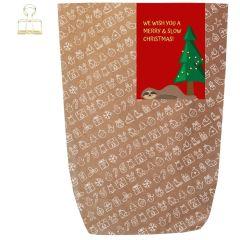 Geschenktüte X-MAS ICON - SLOW CHRISTMAS - zum Befüllen