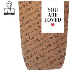 Geschenktüte YOU ARE LOVED - zum Befüllen
