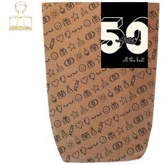 Geschenktüte 50 YEARS - zum Befüllen