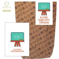 Geschenktüte + Grußkarte ALLES GUTE ZUR EINSCHULUNG!