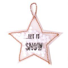Anhänger Konfettistern LET IT SNOW