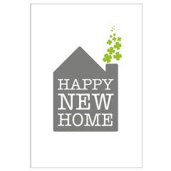 Personalisierbare Grußkarte HAPPY NEW HOME