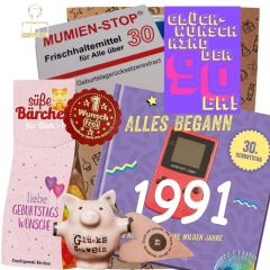 Geschenkset GLÜCKWUNSCH KIND DER 90er # 2