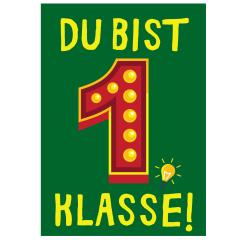 Minicard DU BIST 1. KLASSE!