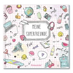 Freundebuch MEINE SUPERFREUNDE - Version GIRL POWER
