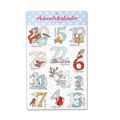Adventskalender Zahlensticker SCHNEETIERE