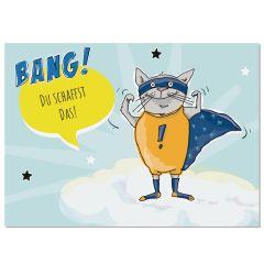 Postkarte BANG! DU SCHAFFST DAS!