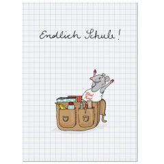 Postkarte ENDLICH SCHULE!