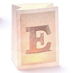 Lichttüte Buchstabe E