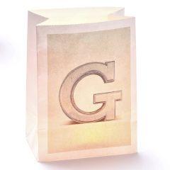 Lichttüte Buchstabe G