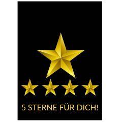 Minicard 5 STERNE FÜR DICH!