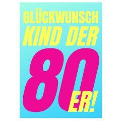 Minicard GLÜCKWUNSCH KIND DER 80er