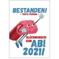 Minicard GLÜCKWUNSCH ZUM ABI 2021! - SUPERHIRN