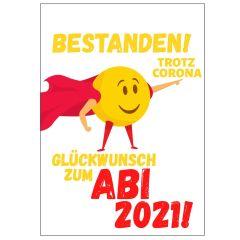 Minicard GLÜCKWUNSCH ZUM ABI 2021! - SUPER SMILEY