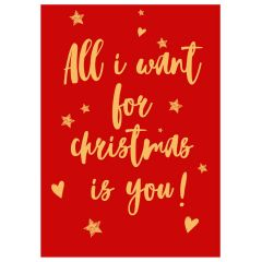 Minicard ALL I WANT FOR CHRISTMAS IS YOU! - First Edition