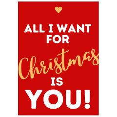 Minicard ALL I WANT FOR CHRISTMAS IS YOU! - New Edition