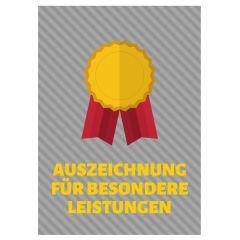 Minicard AUSZEICHNUNG FÜR BESONDERE LEISTUNGEN