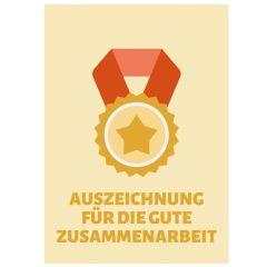 Minicard AUSZEICHNUNG FÜR DIE GUTE ZUSAMMENARBEIT