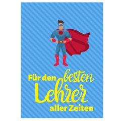 Minicard FÜR DEN BESTEN LEHRER ALLER ZEITEN
