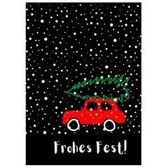 Minicard FROHES FEST! AUTO