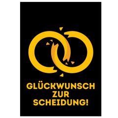 Minicard GLÜCKWUNSCH ZUR SCHEIDUNG!