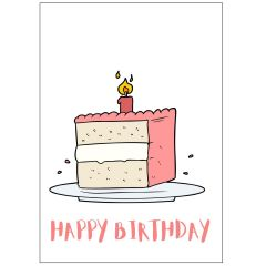 Minicard HAPPY BIRTHDAY GEBURTSTAGSKUCHEN