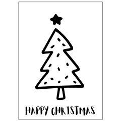 Minicard HAPPY CHRISTMAS BAUM