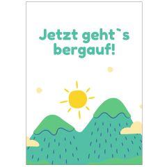 Minicard JETZT GEHT`S BERGAUF!