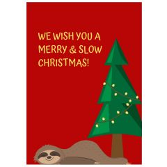 Minicard MERRY AND SLOW CHRISTMAS