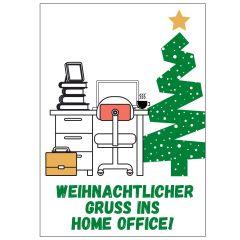 Minicard WEIHNACHTLICHER GRUSS INS HOME OFFICE