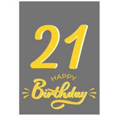Minicard 21 HAPPY BIRTHDAY!