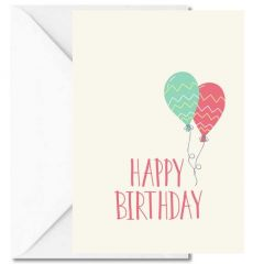 Personalisierbare Grußkarte HAPPY BIRTHDAY BALLONS