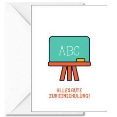 Personalisierbare Grußkarte ALLES GUTE ZUR EINSCHULUNG!