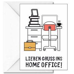 Personalisierbare Grußkarte GRUSS INS HOME OFFICE!