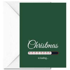 Personalisierbare Weihnachtskarte CHRISTMAS IS LOADING