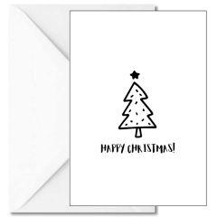 Personalisierbare Weihnachtskarte HAPPY CHRISTMAS