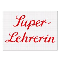 Postkarte SUPER LEHRERIN