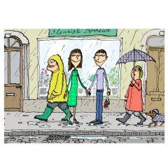 Postkarte RAIN OF LOVE