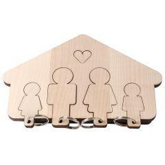 Schlüsselbrett HOME SWEET HOME FAMILY