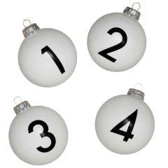 Baumkugeln-Set NUMBERS 1 - 4