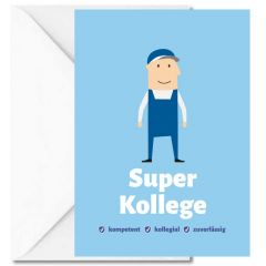 Personalisierbare Grußkarte SUPER KOLLEGE